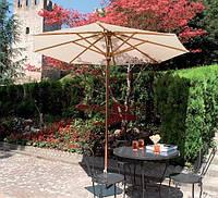Зонт Палладиум, Зонт деревянный, зонт для сада, зонт для ресторана, зонт для кафе, зонт для бассейна