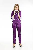 Модный брючный женский костюм 2009  Фиолетовый