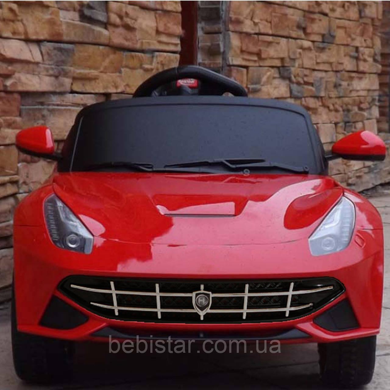 Электромобиль спортивный легковой красный для деток 3-8 лет мотор 2*25W аккумулятор 2*6V4.5AH с MP3