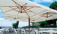 Зонт Квадро XL, зонт для кафе, зонт для сада, зонт для бассейна, зонт для пляжа, деревянный зонт, пляжный зонт