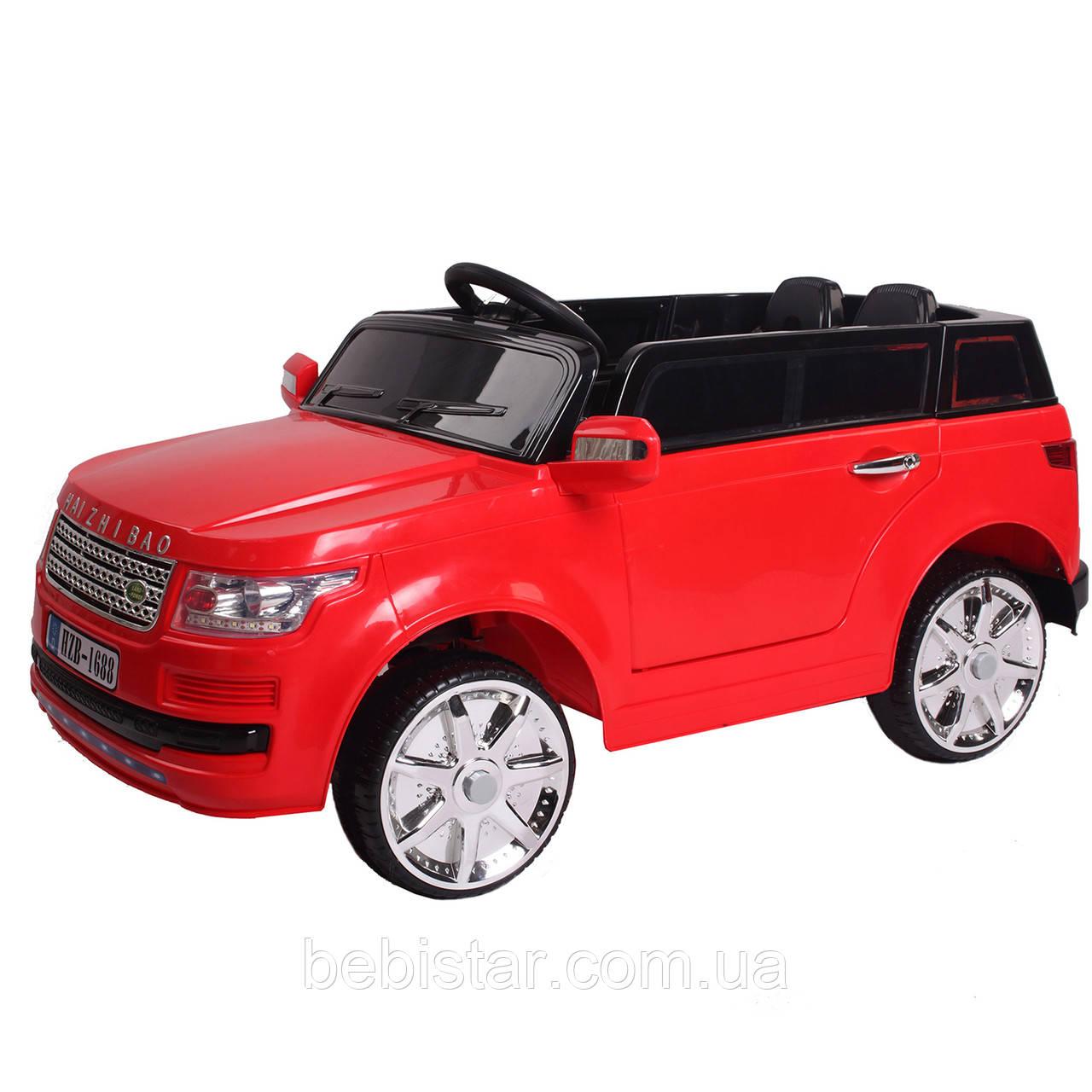 Детский электромобиль Джип красный с пультом аккумулятор 2*6V4.5AH, мотор 2*25W с МР3