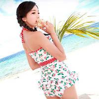 Яркий стильный купальник юбка+топ   2 вида