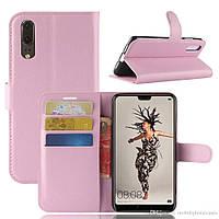 Чехол-книжка Litchie Wallet для Huawei P20 Светло-розовый