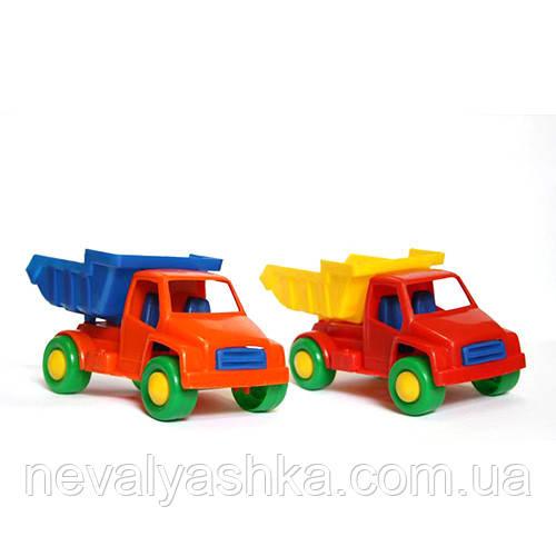 Машинка Детская Самосвал Вольво пластиковая небольшая для песочницы мг 121 MAXGROUP максгрупп, 009444