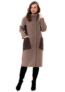 Женское оригинальное демисезонное  пальто Хилтон