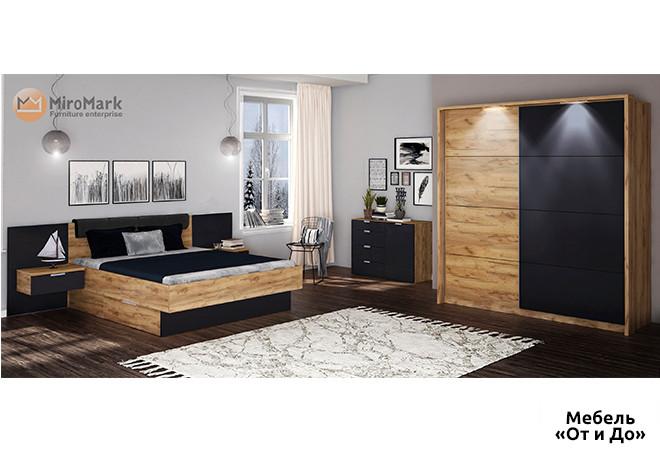 Модульная спальня Луна Комплект со шкафом-купе 2Д