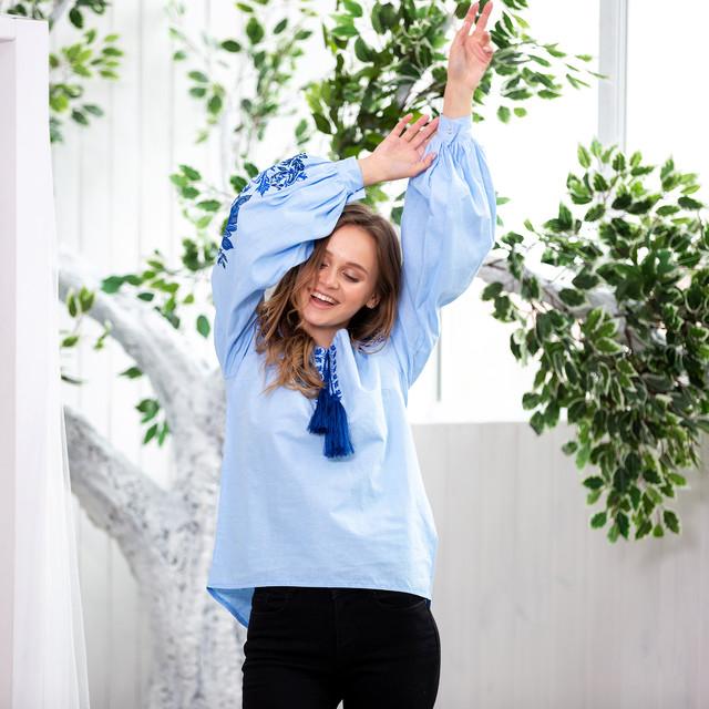 Блуза женская с вышивкой Жарптица