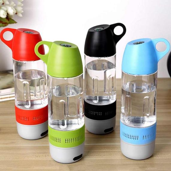 Спортивная бутылка для воды с Bluetooth  колонкой