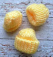 Міні шапочка, 4см. світло-жовта