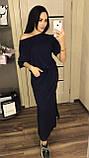 Довге літнє плаття на куліске з кишенями / віскоза / Україна 1-523, фото 3
