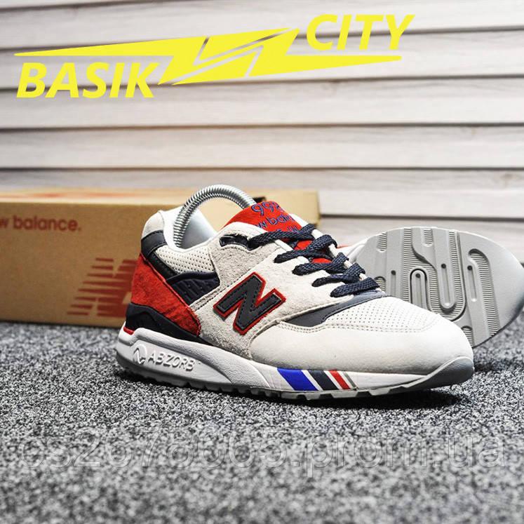 Мужские кроссовки New Balance 998 Gray Red