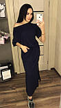 Длинное летнее платье на кулиске с карманами / вискоза / Украина 1-523, фото 3