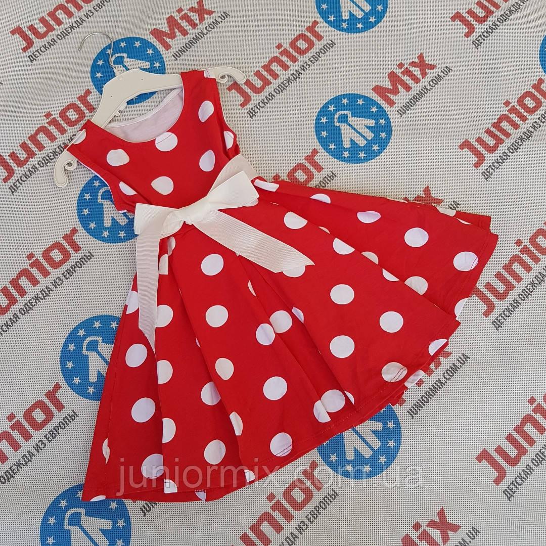 Детские трикотажные платья в горохи оптом  ITALY