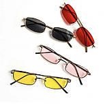 Солнцезащитные узкие прямоугольные очки (много расцветок) v6149, фото 5