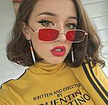 Солнцезащитные узкие прямоугольные очки (много расцветок) v6149, фото 2