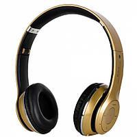 Bluetooth наушники S460 аналог beats solo2 --- ЗОЛОТЫЕ  D10213