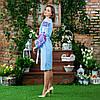 Вышитые платья в украинском стиле Жар Птица розовая, фото 3