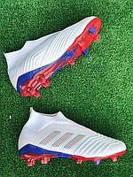Бутсы Adidas Predator 18+FG/копы/адидас предатор без шнурков