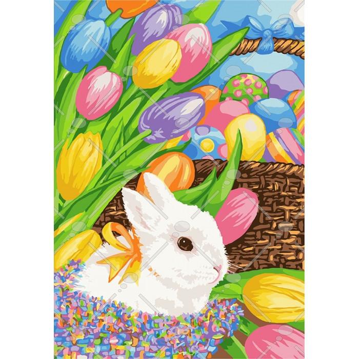 Картина по номерам Пасхальный кролик 35 х 50 см (KH4109)
