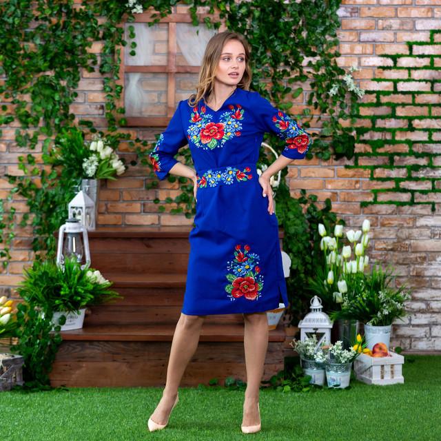 Платья вышиванки современные Мальва