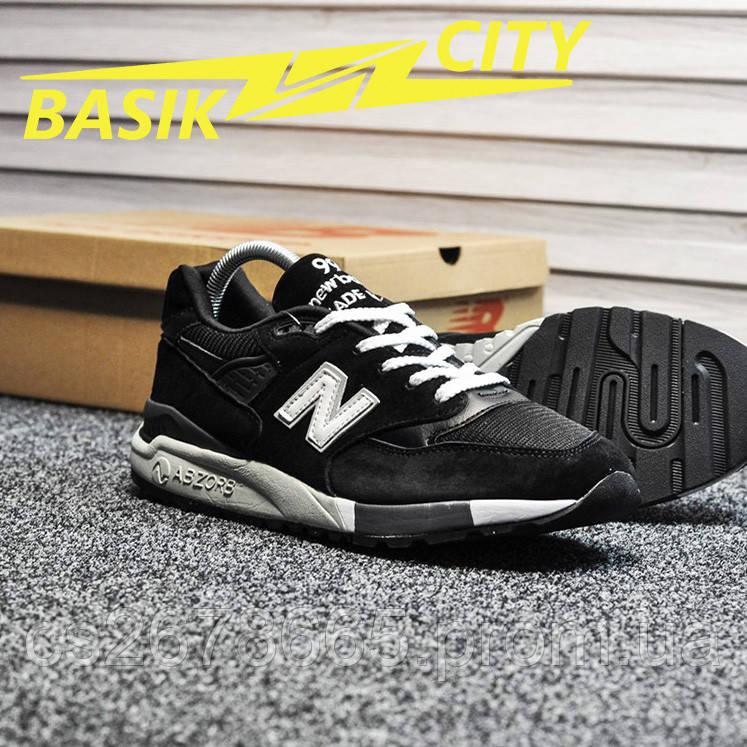 Мужские кроссовки New Balance 998 Black White