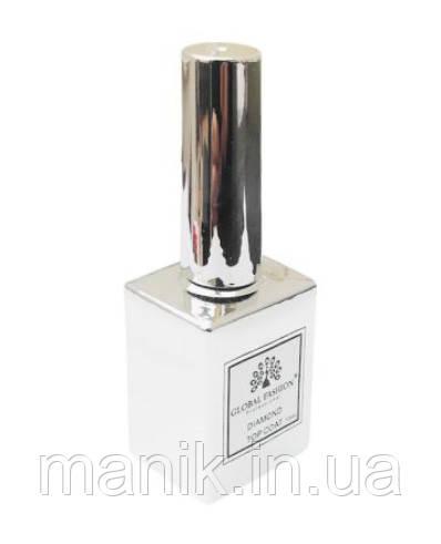Универсальное верхнее покрытие без липкого слоя (топ/финиш), Global Fashion Top Diamond F42, 15 мл.