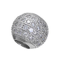 Бусина 10 мм серебро