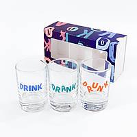 """Набор рюмок """"Drunk"""" (3x50 мл)"""