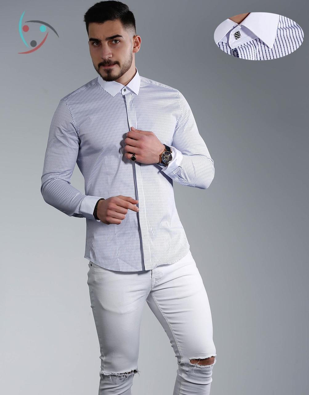 Рубашкамужская длинный рукав  Rubaska Турция