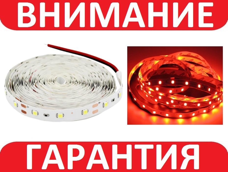 Светодиодная лента smd 2835 60 диод/м красное свечение