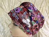 Летняя бандана-шапка-косынка-чалма-тюрбан в цветах, фото 8