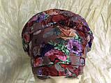 Летняя бандана-шапка-косынка-чалма-тюрбан в цветах, фото 9