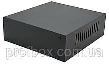 Корпус металевий MB-5 (Ш190 Г200 В65) чорний, RAL9005(Black textured)