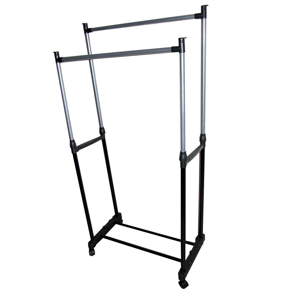 Телескопическая вешалка для одежды Double Pole (30 кг) D10222