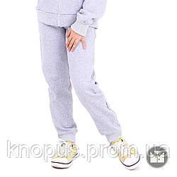 Утерленные спортивные штаны  для девочки светло-серые, Naomi, размеры 122-152, Тимбо