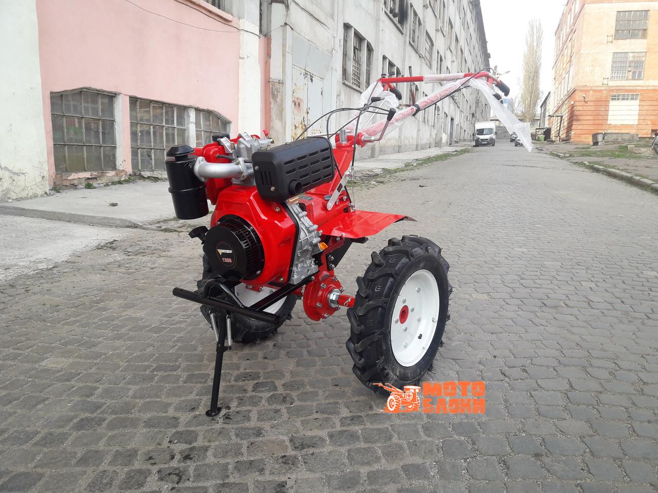 """Культиватор бензиновый FORTE 1350G колеса 12"""" (Красный)"""