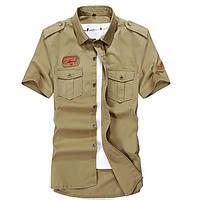 25e417bbf9fa51d Мужчины плюс размер двойной карман отложной воротник короткий рукав хлопок  случайные открытый рубашки 1TopShop