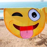 Пляжный коврик Смайлик 150 см