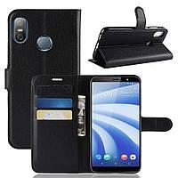 Чехол-книжка Litchie Wallet для HTC U12 Life Черный