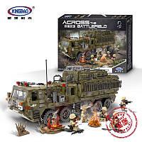 """Конструктор """"Тяжёлый военный пехотный грузовик"""" Лего (аналог) 1377 деталей"""