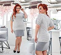 Платье  -туника в полоску   50-52.54-56 пр-во Турция Цвета на фото, фото 1