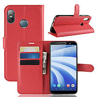 Чехол-книжка Litchie Wallet для HTC U12 Life Красный