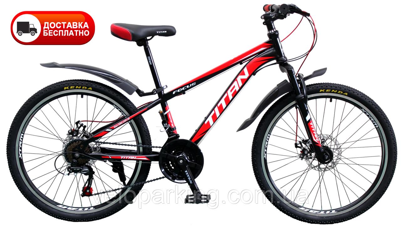 Гірський підлітковий велосипед Titan Focus 24 (2019) new