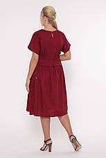 Бордове стильне стройнящее плаття Мелісса, фото 3