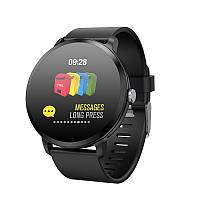 Lemfo V11 умные смарт часы и фитнес браслет с тонометром и пульсометром (Черный) - 911344