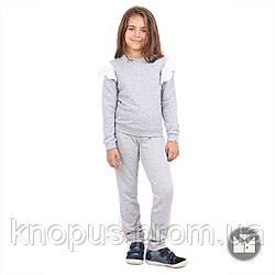 Спортивные штаны  для девочки светло-серые, Kate, размеры 122-152, Тимбо
