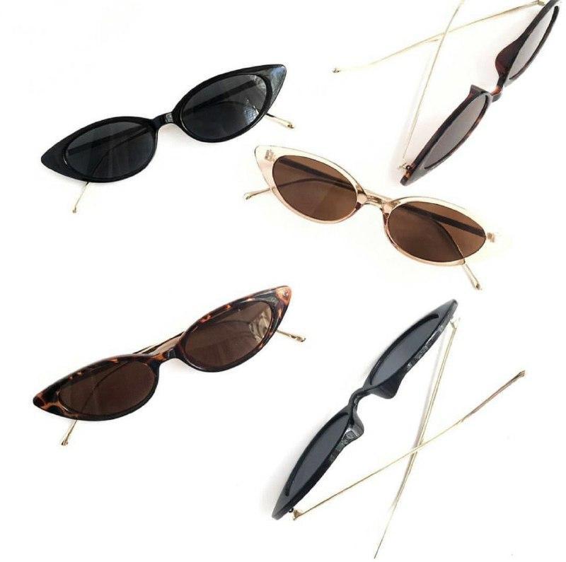Солнцезащитные узкие очки овальные кошечки v6152