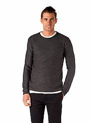 Чоловічий в'язаний светр темно сірий Jarah Dark Grey від Solid в розмірі XL 52