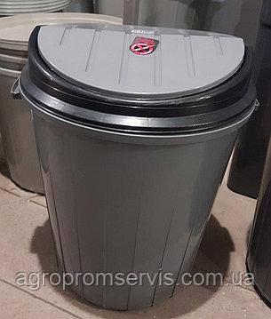 Бак для мусора 50л. с плавающей крышкой, фото 2