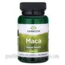 Мака для сексуального здоровья, Swanson Maca, 500 мг, 60 капсул